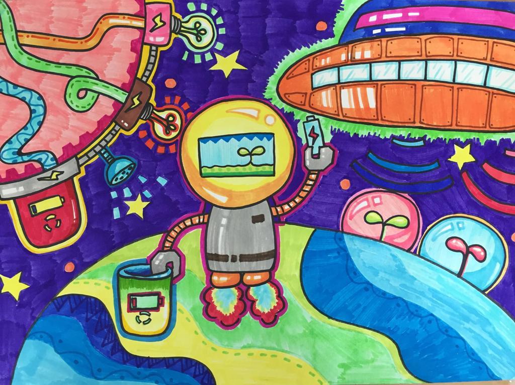 缤纷童年 创意无限——南京市艺术小学有趣的美术课图片